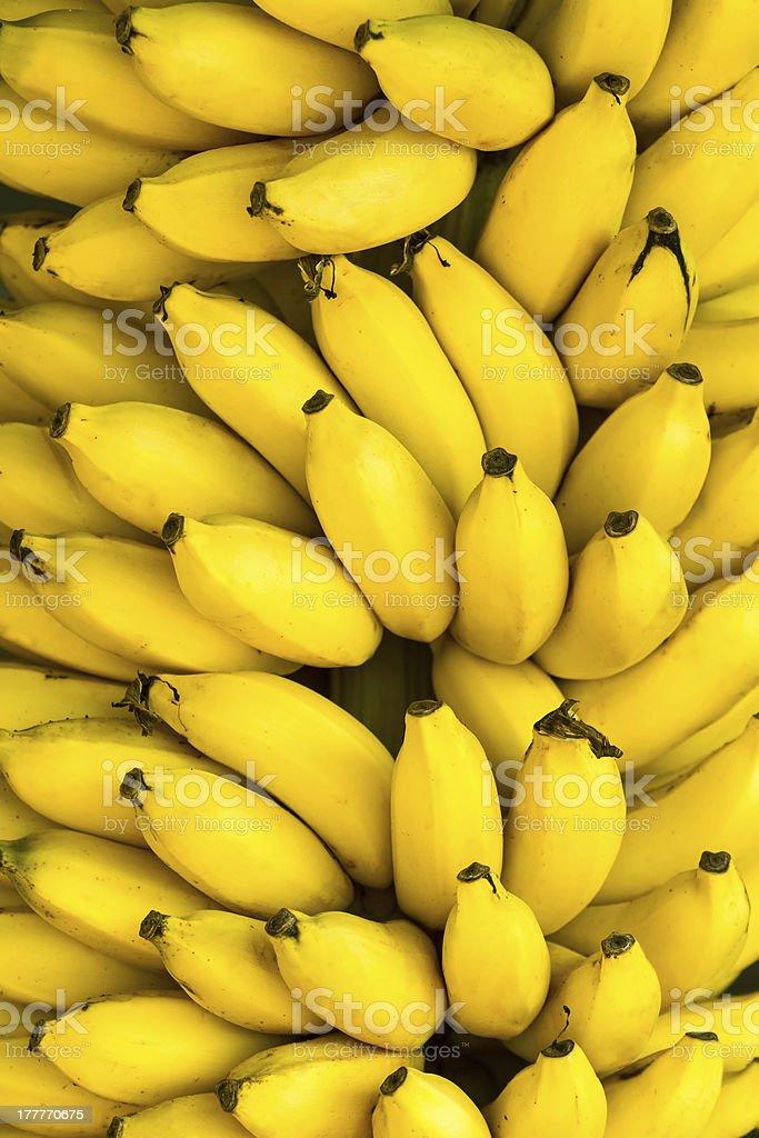 Bunch of ripe bananas background stock photo