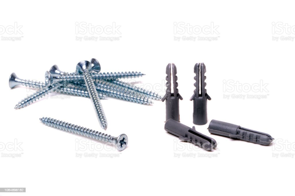 Bunch Of Screws And Plastic Anchors Stock Photo Download Image Now Istock