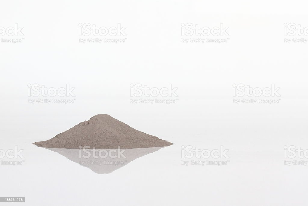 Bunch of stainless steel Metal powder stock photo