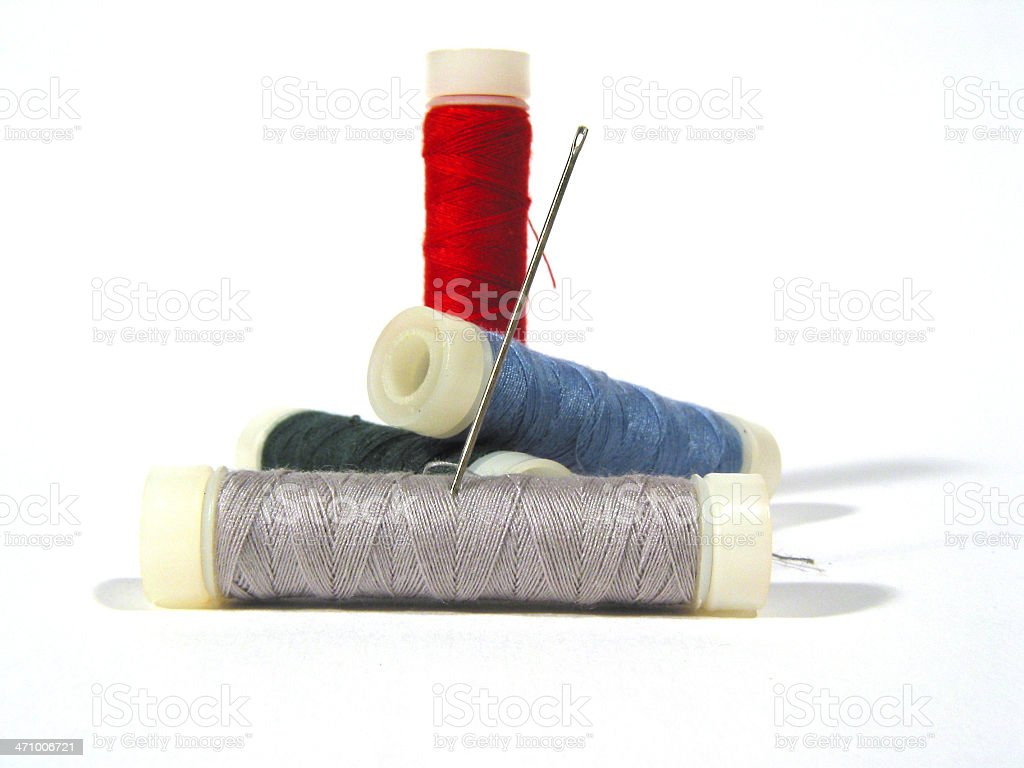 Bunch of threads royalty-free stock photo