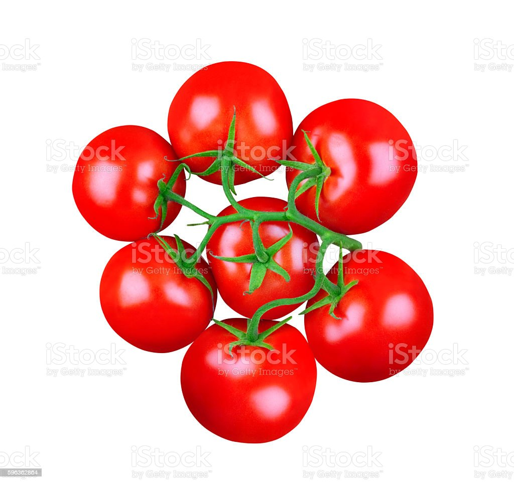 bunch of tomatoes isolated on white royalty-free stock photo