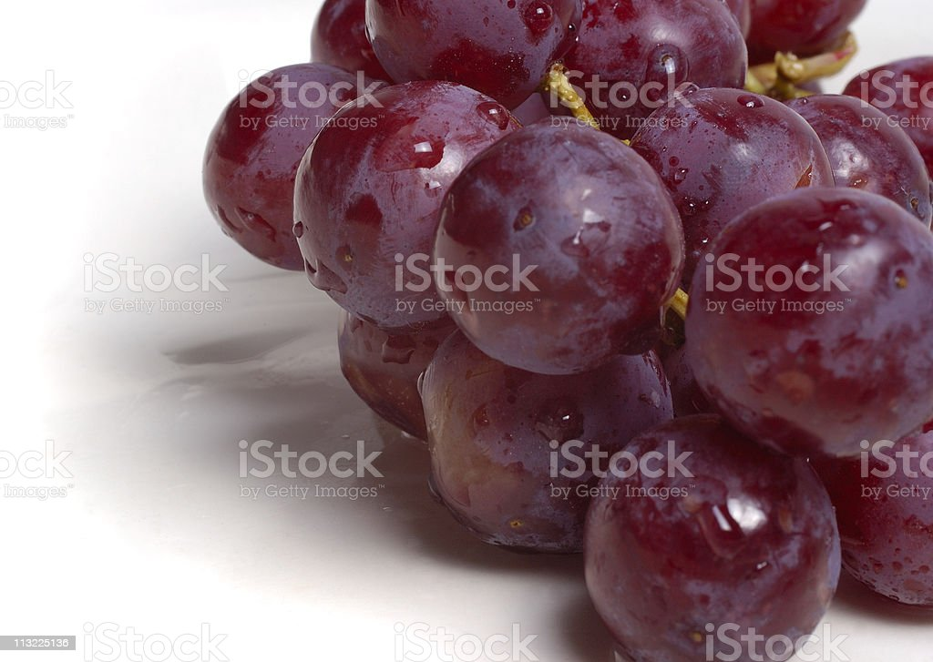 bunch of wet red grapes royalty-free stock photo