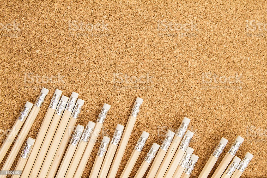 Bunch of wooden pencils royalty-free stock photo