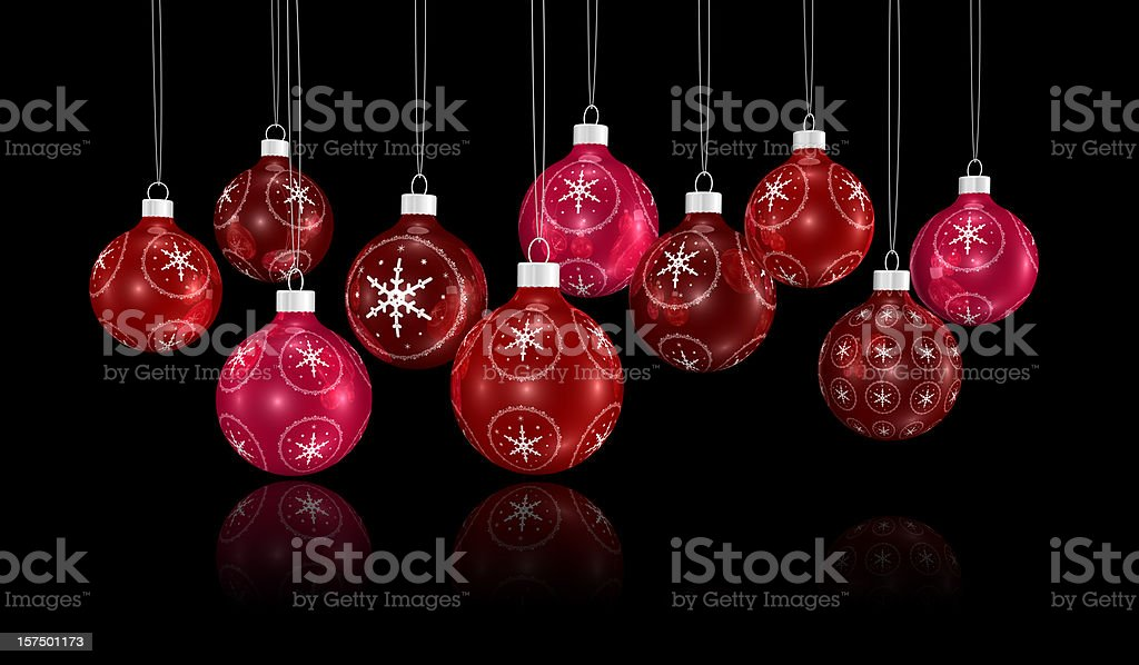bunch of xmas ornaments hanging on a chain royalty-free stock photo