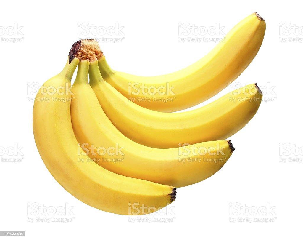 Tas de bananes jaune.  Isolé sur fond blanc - Photo