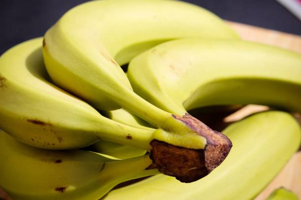 A bunch of yellow bananas stock photo