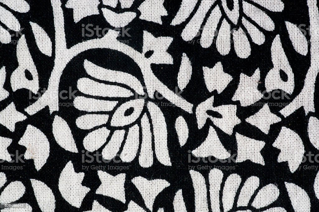 Bunches of plants and flowers, vintage hand-made stamping ink stock photo