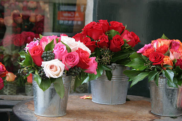 bunches di rose - foto stock