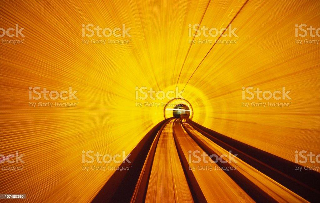 Bund tunnel stock photo