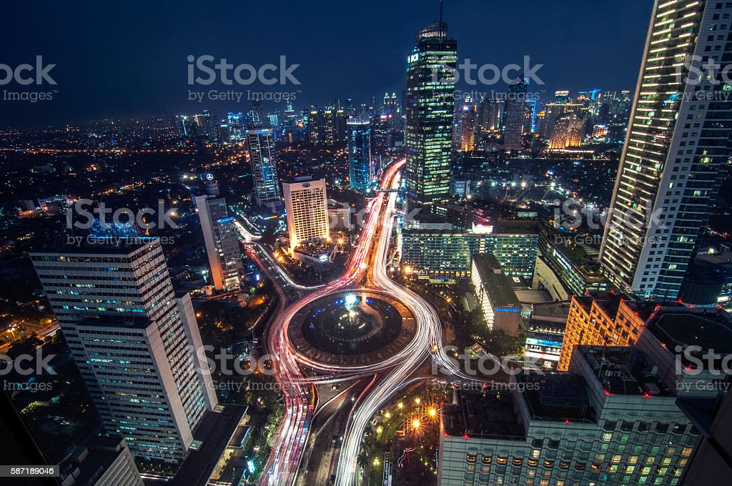 Bundaran HI Jakarta stock photo