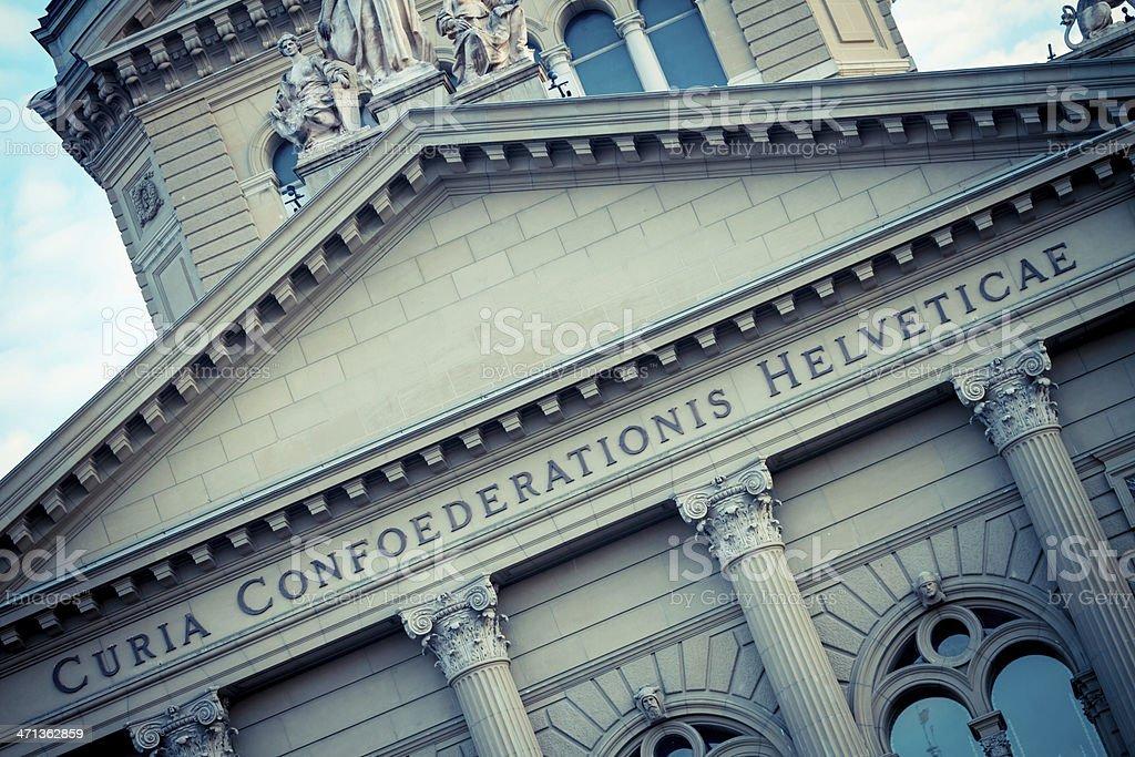 Bundeshaus Facade Detail, Bern, Switzerland royalty-free stock photo