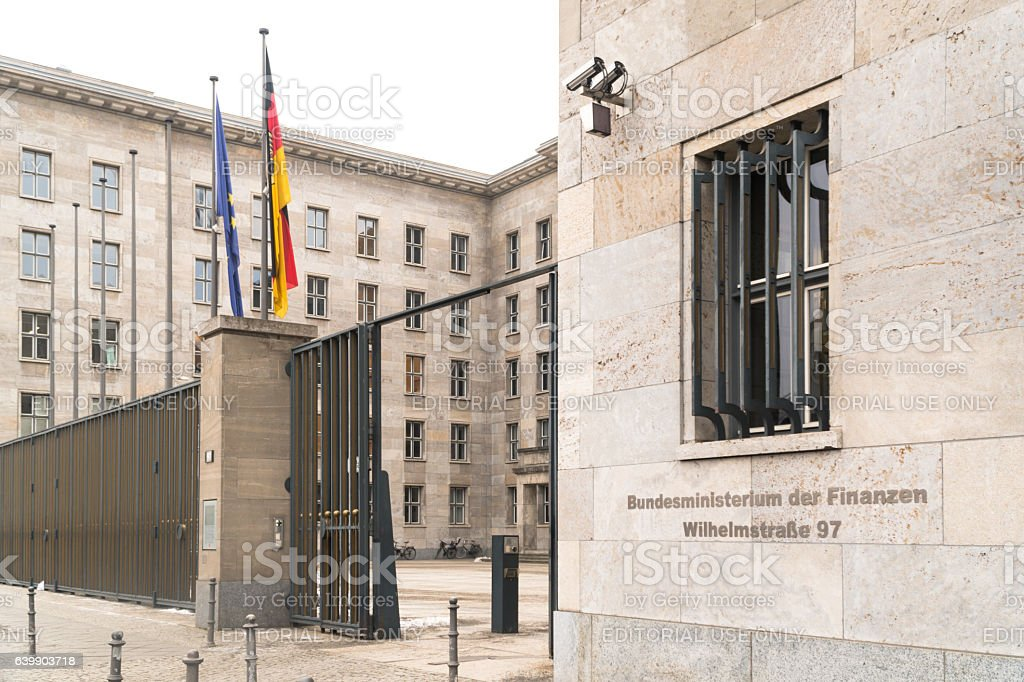 Berlin, Germany - January 18, 2017: Bundesministerium der Finanzen – Foto