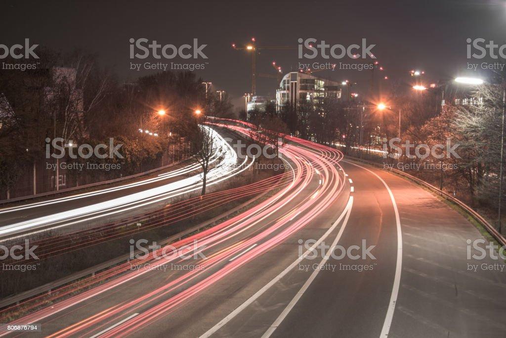 Bundesstraße in Düsseldorf stock photo