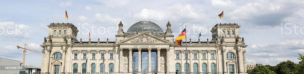 Bundestag Building the Reichstag Panorama royalty-free stock photo