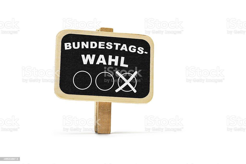 Bundestagswahl stock photo