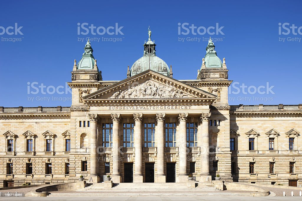 Bundesverwaltungsgericht, Leipzig royalty-free stock photo