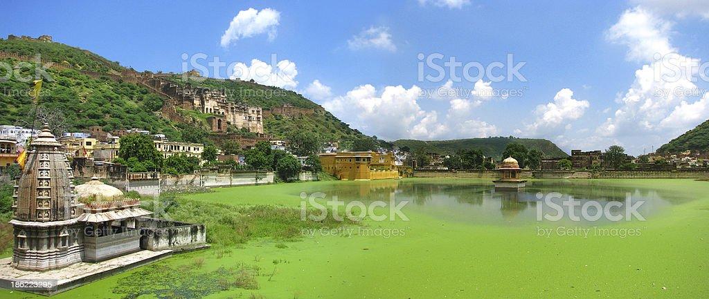Bundi, India: Panoramic view of this wonderful Rajasthan city stock photo