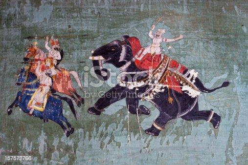 istock Bundi Palace Painting From Rajasthan, India 157572766