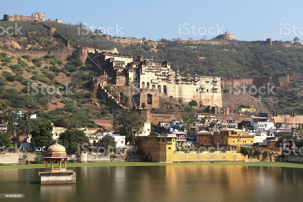 Bundi's Garh Palace & Taragarh Fort India stock photo