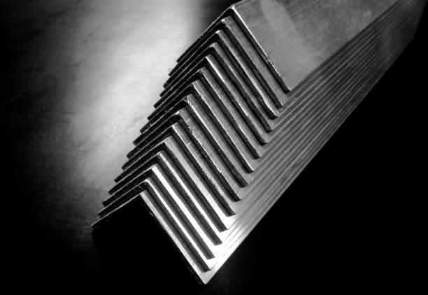 Bundle of Aluminium Treads stock photo