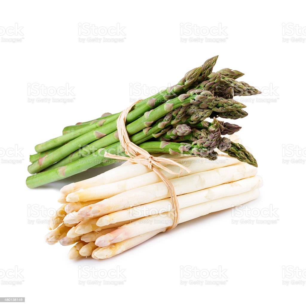 Pack d'asperges isolé sur blanc - Photo