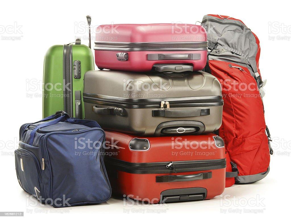 Cтоковое фото Багаж, состоящий из suitaces и дорожную сумку, рюкзак