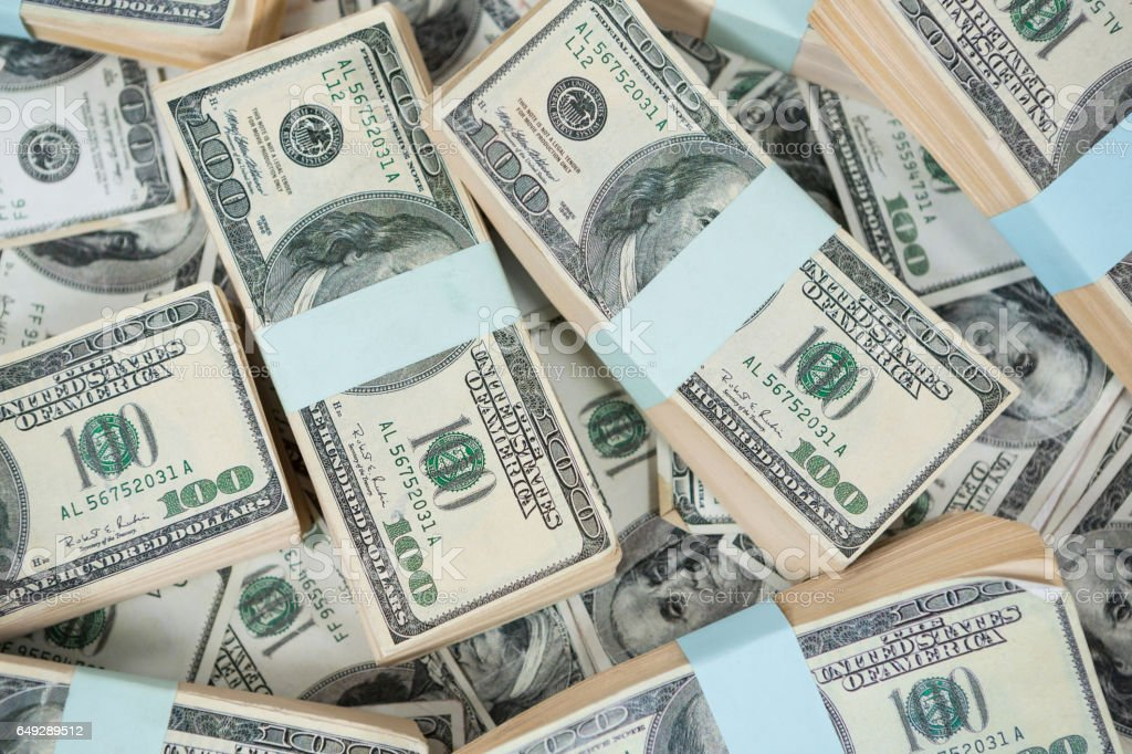 Bundle of currency note stock photo