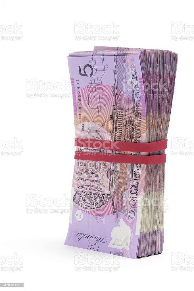 Bundle of Dollar Notes stock photo
