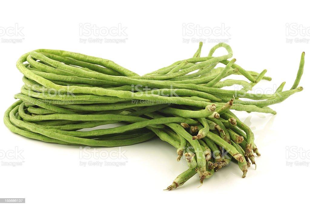 bundle of fresh long beans(Vigna unguiculata subsp. sesquipedalis) stock photo