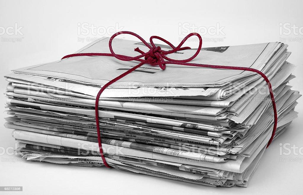 Bundle of Newspaper royalty-free stock photo
