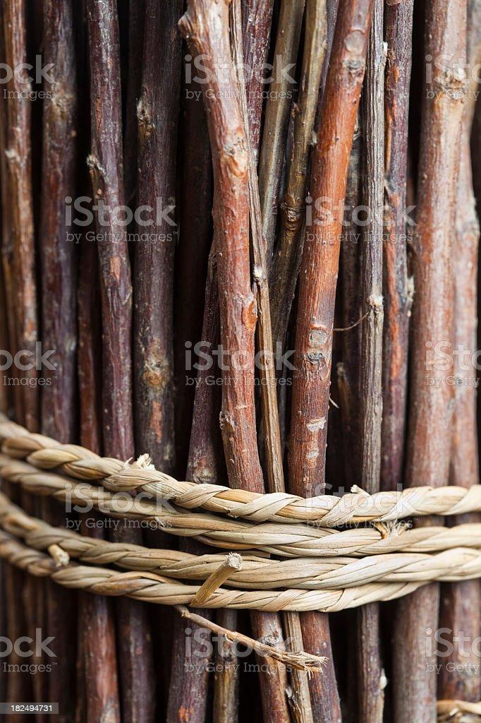 Bundle of twigs royalty-free stock photo