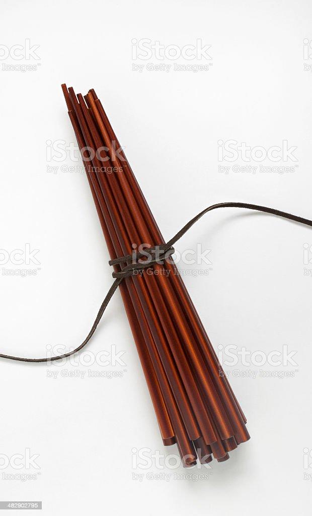 Bundle of Wooden Chopsticks royalty-free stock photo
