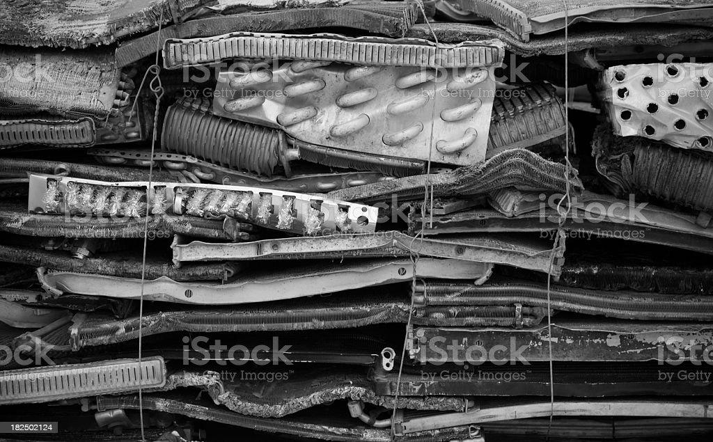Bundled scrap metal royalty-free stock photo