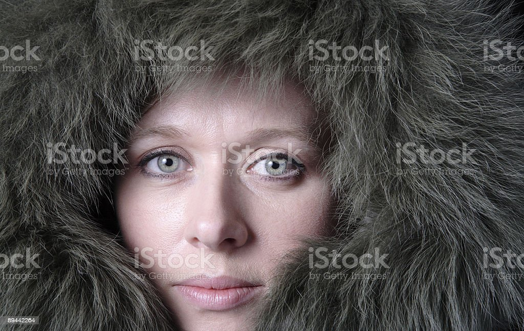 bundled up woman royalty-free stock photo
