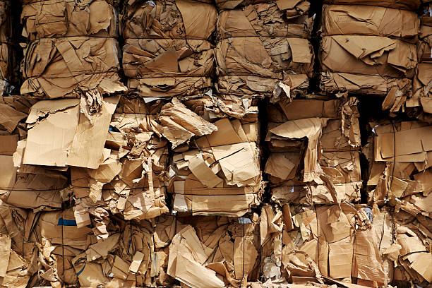 Pakete von Pappe für den transport – Foto