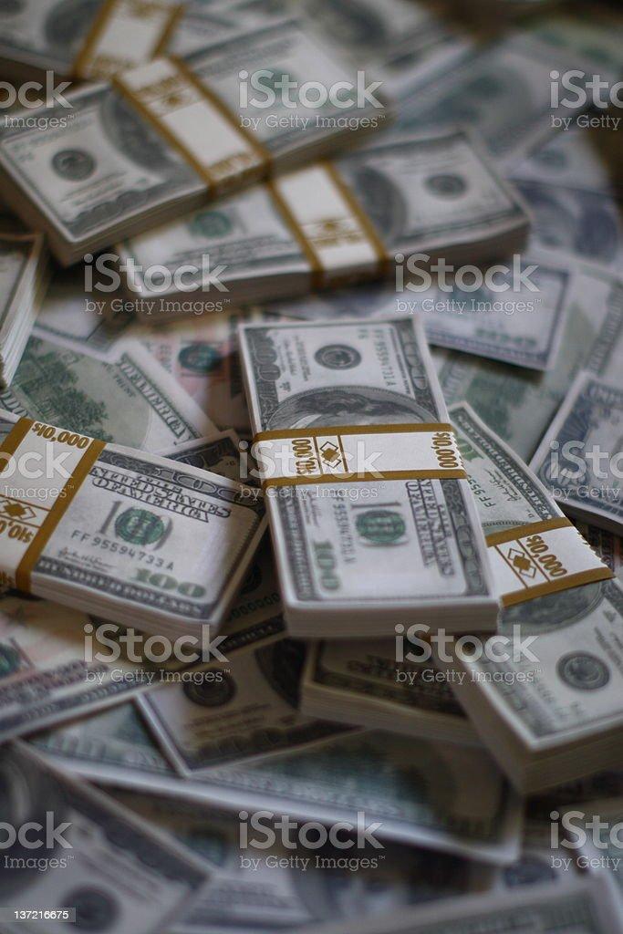 Bundles of cash royalty-free stock photo