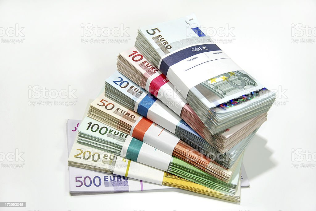Bundles of money stock photo