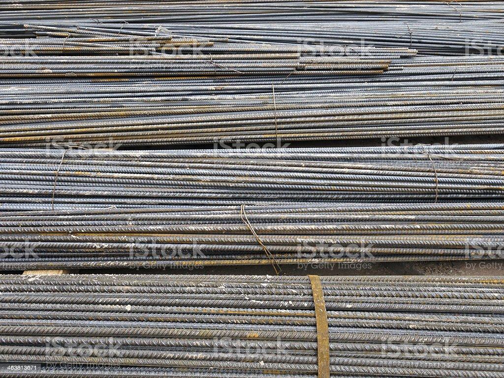 bundles of steel royalty-free stock photo
