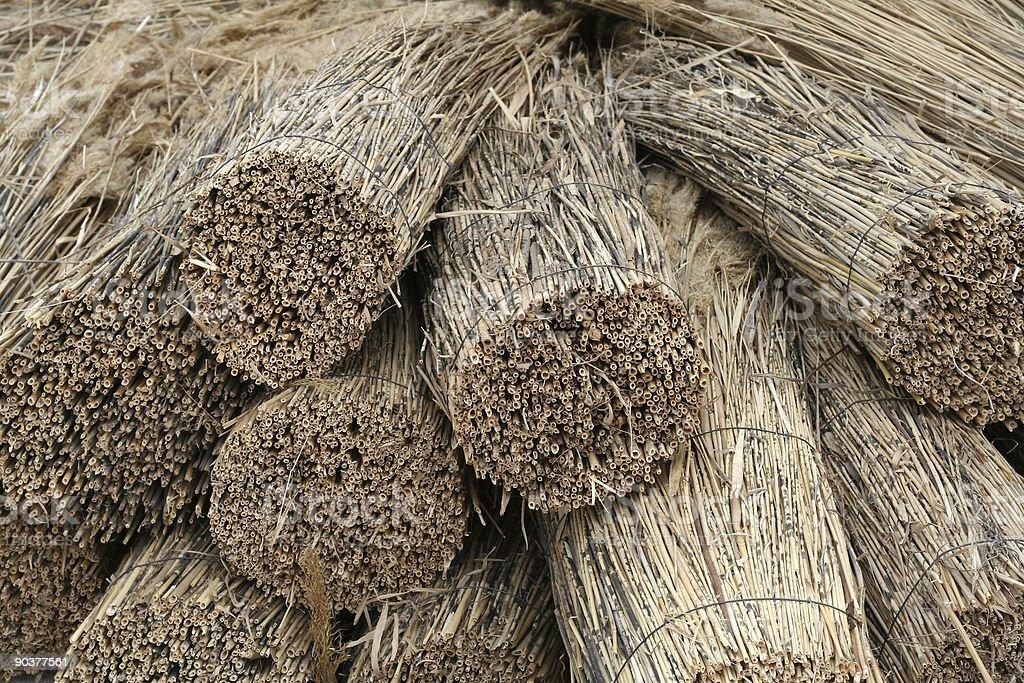 Bundles of thatch royalty-free stock photo