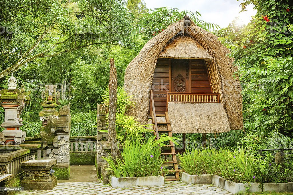 Bungalow no tropical resort, Bali - foto de acervo