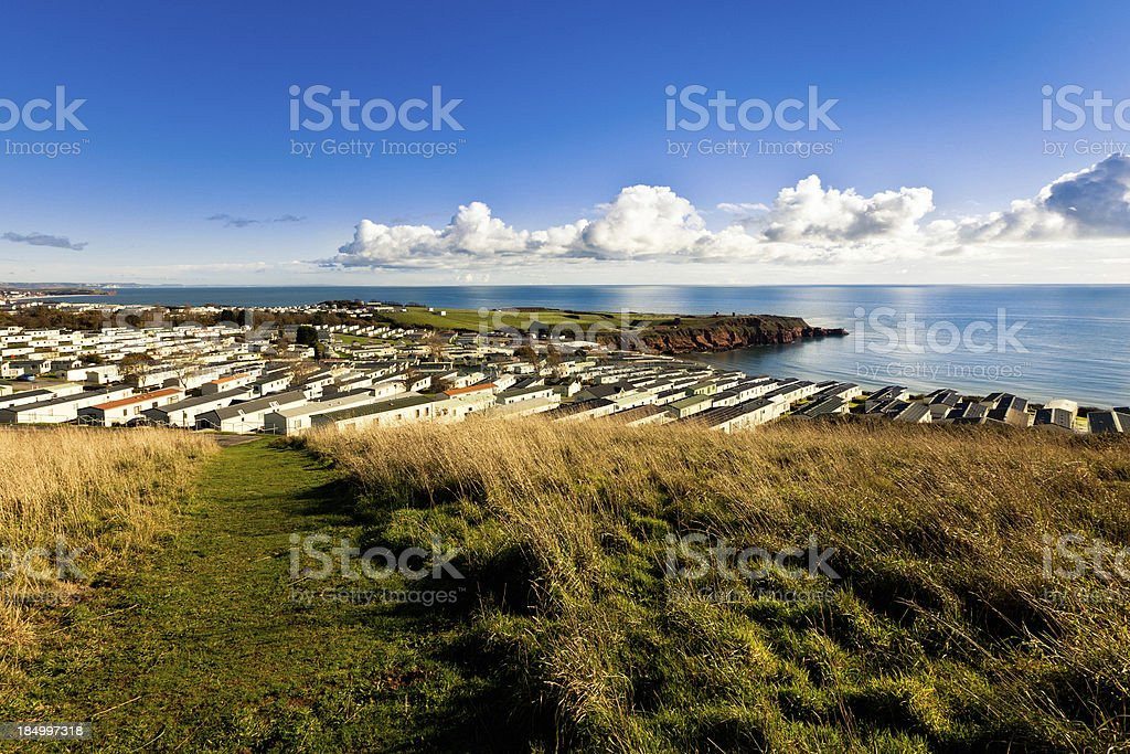 Bungalow by the sea stock photo
