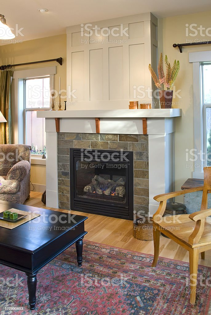Bungalow fire place royalty-free stock photo