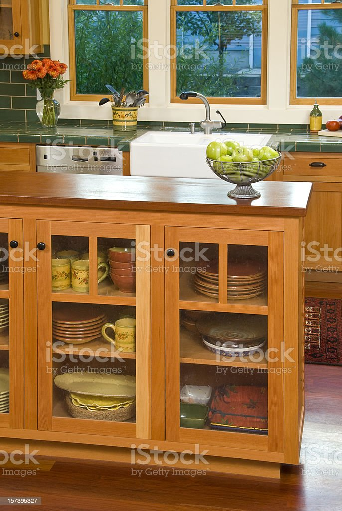 Bungalow Kitchen With Cabinets And Dishes Stock Photo Download Image Now Istock