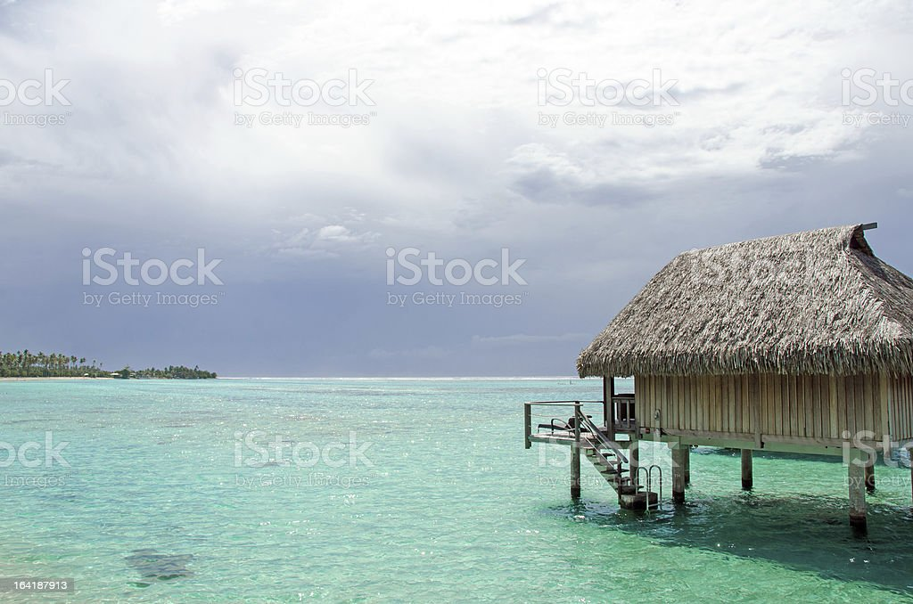 Bungalow Rental Moorea stock photo