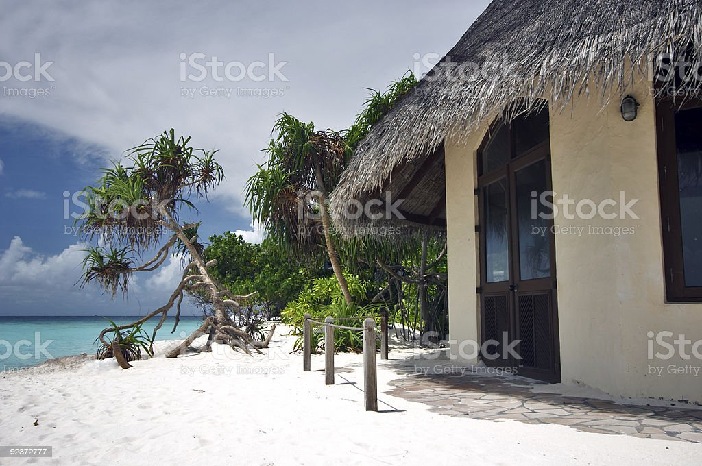 Bungalow with a view royalty-free stock photo