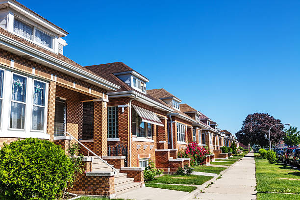 Bungalows in Archer Heights, Chicago  bungalow stock pictures, royalty-free photos & images