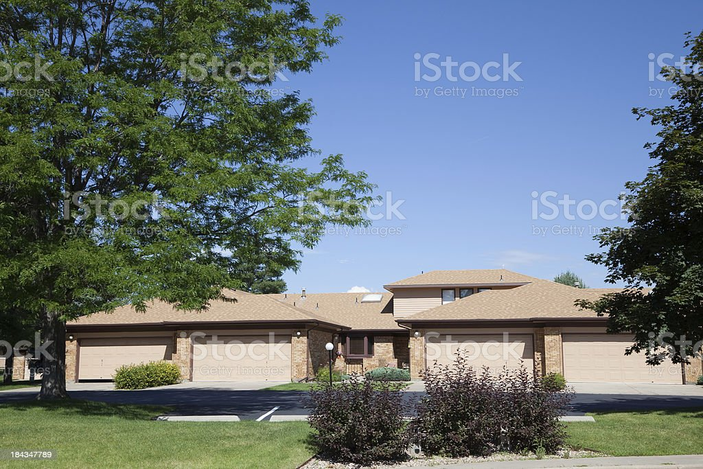 Bungalows with garages in front royalty-free stock photo