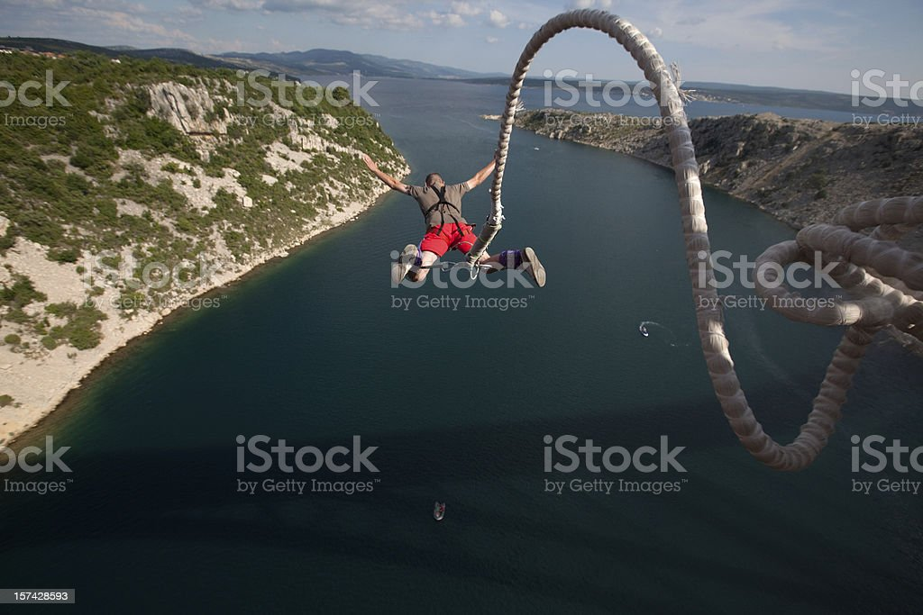bungee jump stock photo