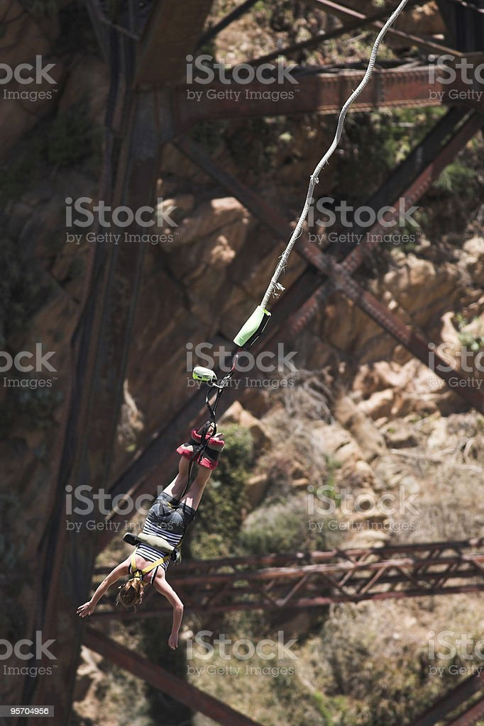 Bungee jumper royalty-free stock photo