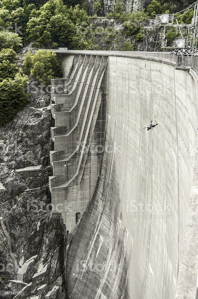 Bungee jumping, extreme sports stock photo